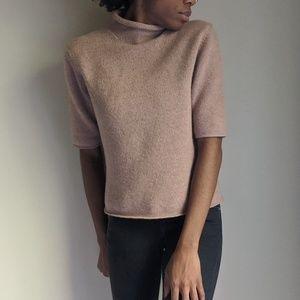 Lafayette 148 New York Mock Neck Wool Sweater